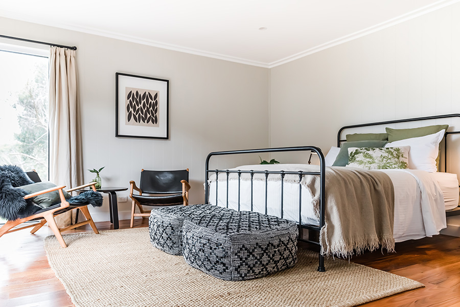 bedroom image with new bed Haven Red Hill